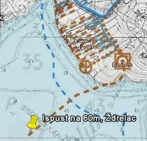 Klik za veću sliku s prikazom planiranih kanalizacija i u Općini Kukljica